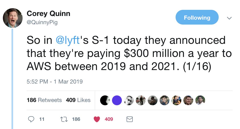 Corey Quinn twitter