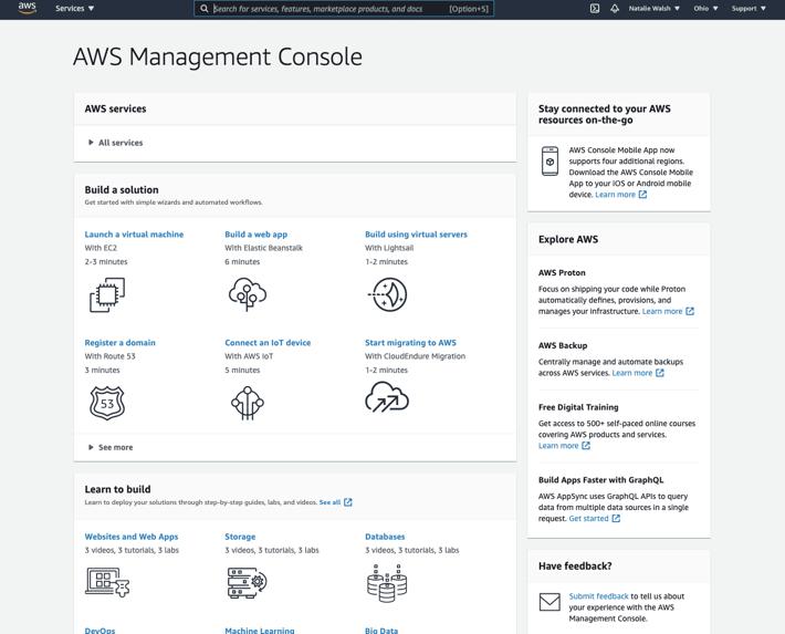 AWS Services - Management Console